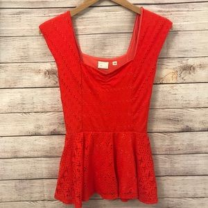 Anthropologie 9-H15 STCL red tank top